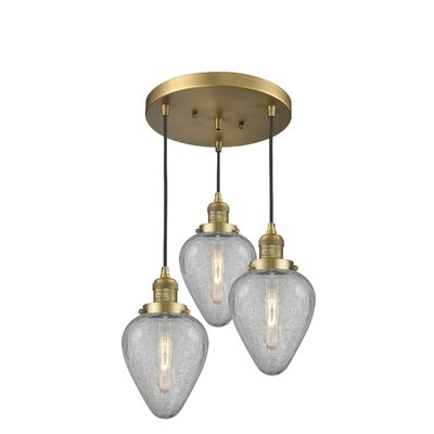 Bontrager 3-Light Cluster Pendant Finish: Brushed Brass