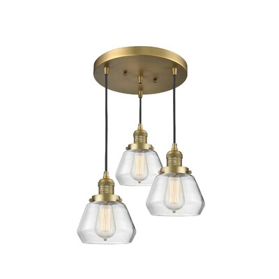 Dupree 3-Light Cluster Pendant Finish: Brushed Brass