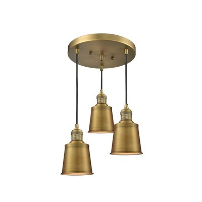 Carn 3-Light Cluster Pendant Finish: Brushed Brass