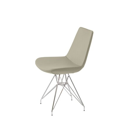 Shinkle Tower Upholstered Dining Chair Upholstery Color: Bone Leatherette