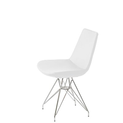 Shinkle Tower Upholstered Dining Chair Upholstery Color: White Leatherette