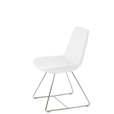 Shinkle Upholstered Dining Chair Upholstery Color: White Leatherette