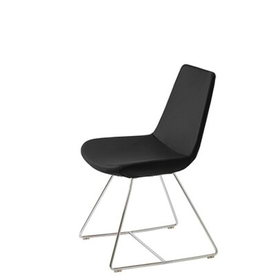Shinkle Upholstered Dining Chair Upholstery Color: Black Leatherette