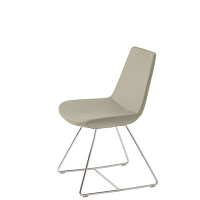 Shinkle Upholstered Dining Chair Upholstery Color: Bone Leatherette