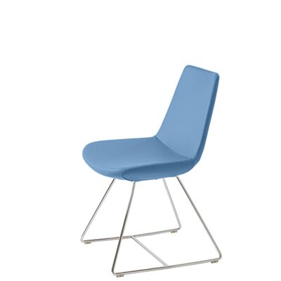 Shinkle Upholstered Dining Chair Upholstery Color: Sky Blue Organic Wool