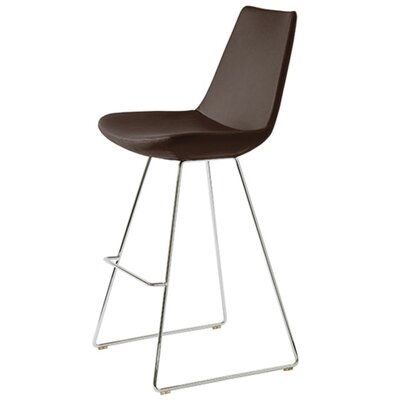 Shinkle 24 Bar Stool Seat Color: Brown Leatherette