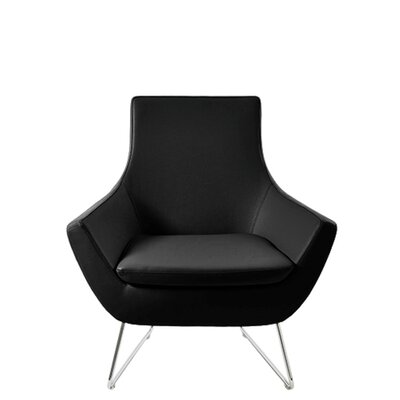 Shipley Wire Armchair Upholstery: Black Leatherette