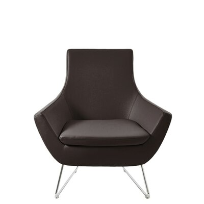 Shipley Wire Armchair Upholstery: Brown Leatherette