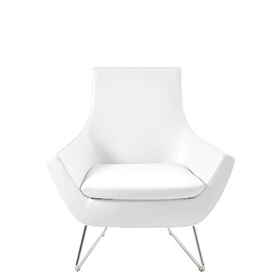 Shipley Wire Armchair Upholstery: White Leatherette