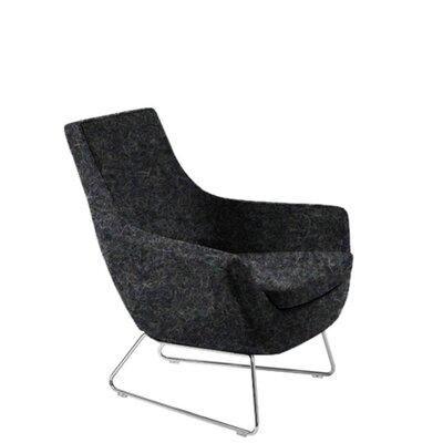 Shipley Wire Armchair Upholstery: Dark Gray Organic Wool