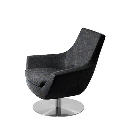 Shipley Swivel Armchair Upholstery: Dark Gray