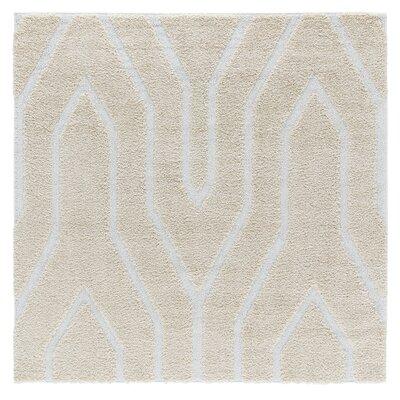Artz Soft Beige/White Area Rug Size: 6 x 6