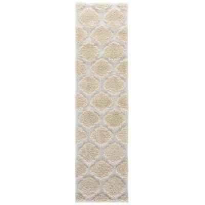 Artz Soft Beige/White Area Rug Size: 2 x 8