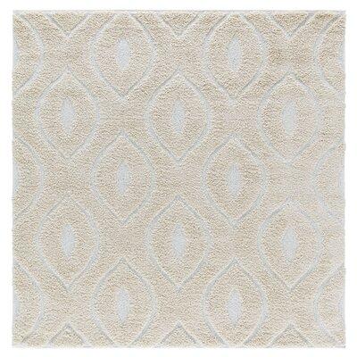 Artz Beige/White Area Rug Size: 6 x 6