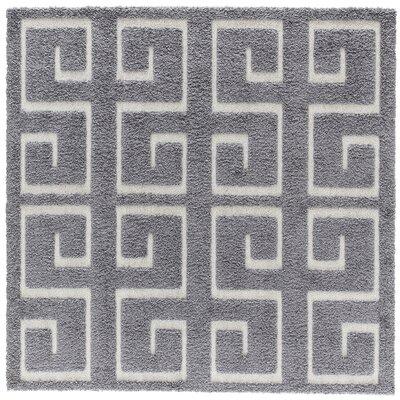 Artz Gray Area Rug Size: 6 x 6