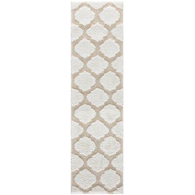 Artz Soft White/Beige Area Rug Size: 2 x 8