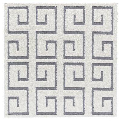 Artz White/Gray Area Rug Size: 6 x 6