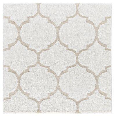Artz Soft White/Beige Area Rug Size: 6 x 6
