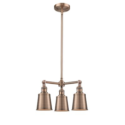 Carn 3-Light Mini Chandelier Finish: Antique Copper