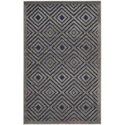 Mcgruder Cream/Navy Indoor/Outdoor Area Rug Rug Size: Rectangle 33 x 53