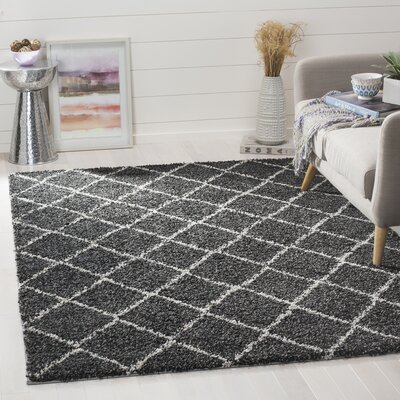 Elbridge Black Area Rug Rug Size: Rectangle 51 x 76