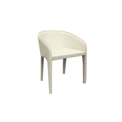 Elsa Genuine Leather Upholstered Dining Chair (Set of 2) Upholstery: White