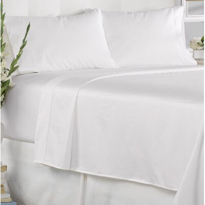 Garfield 450 Thread Count 100% Cotton Solid Pillowcase Size: King, Color: White