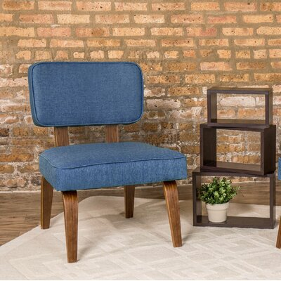 Jimison Slipper Chair Upholstery: Navy Blue