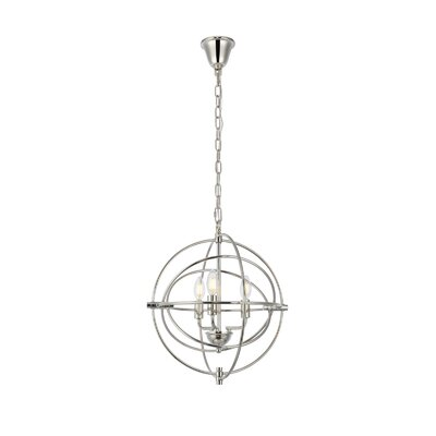 Hamby 3-Light Globe Pendant Finish: Polished Nickel
