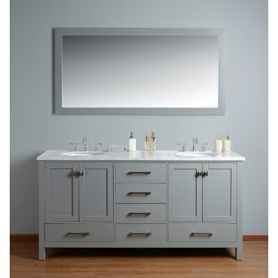 Ankney 72 Double Bathroom Vanity Set with Mirror