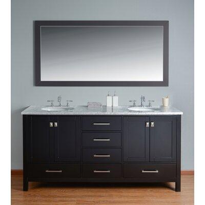 Ankney 72 Double Sink Bathroom Vanity Set with Mirror