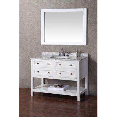 Whaley 48 Single Sink Bathroom Vanity Set with Mirror