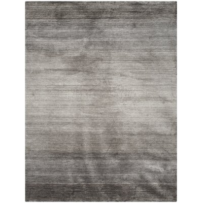 Madrigal Hand-Woven Gray Area Rug Rug Size: Rectangle 8 x 10