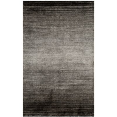 Madrigal Hand-Woven Gray Area Rug Rug Size: Rectangle 5 x 8