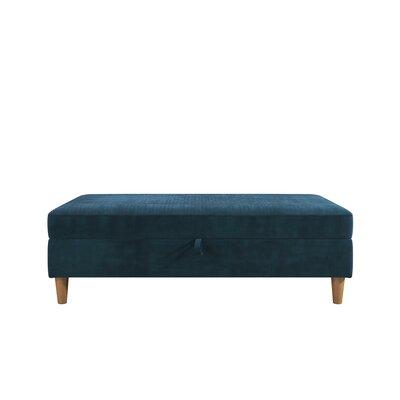 Stigall Storage Ottoman Upholstery: Blue