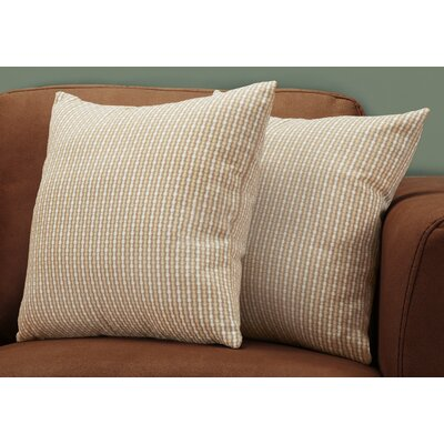 Tangerang Classic Dot Throw Pillows Color: Dark/Taupe