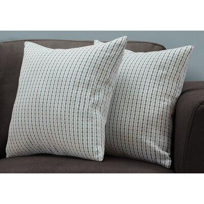 Tangerang Dot Zipper Throw Pillows Color: Blue/Gray