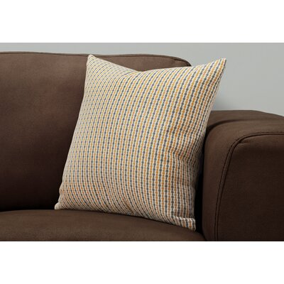 Tangerang Dot Throw Pillow Color: Gold/Gray