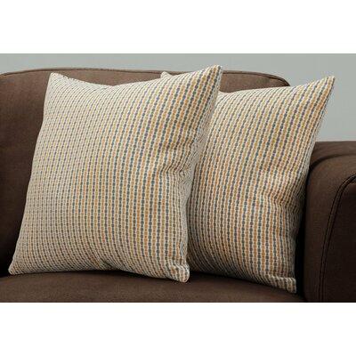 Tangerang Dot Zipper Throw Pillows Color: Gold/Gray