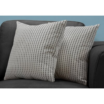 Tangerang Classic Dot Throw Pillows Color: Gray/Black