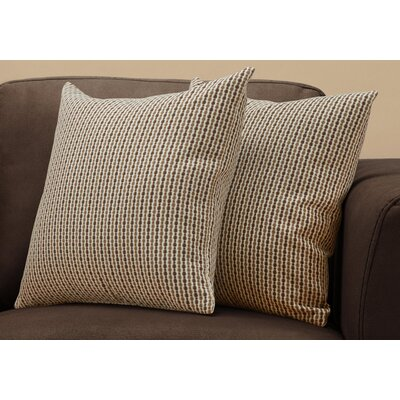 Tangerang Classic Dot Throw Pillows Color: Dark/Brown