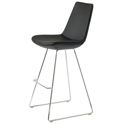 Shinkle 29 Bar Stool Seat Color: Black Leatherette