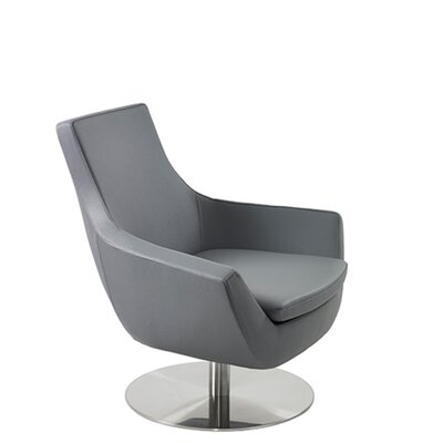 Shipley Swivel Armchair Upholstery: Gray Leatherette