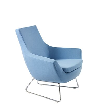 Shipley Wire Armchair Upholstery: Sky Blue Organic Wool