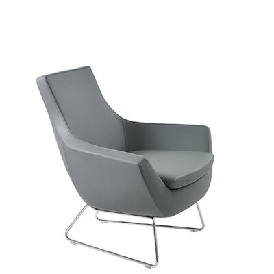 Shipley Wire Armchair Upholstery: Gray Leatherette