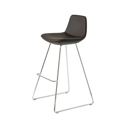 Shinn 29 Bar Stool Seat Color: Black Leatherette