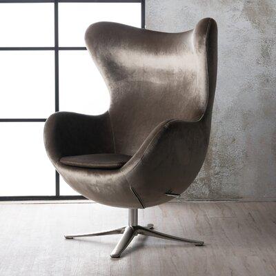 Korinna Swivel Balloon Chair Upholstery: Gray
