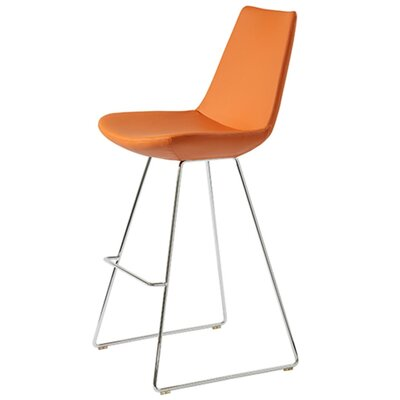 Shinkle 29 Bar Stool Seat Color: Pastel Orange Leatherette