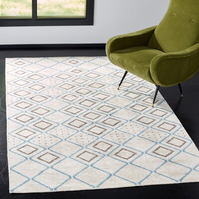Oakely Hand-Knotted Gray Area Rug Rug Size: Rectangle 5 x 8