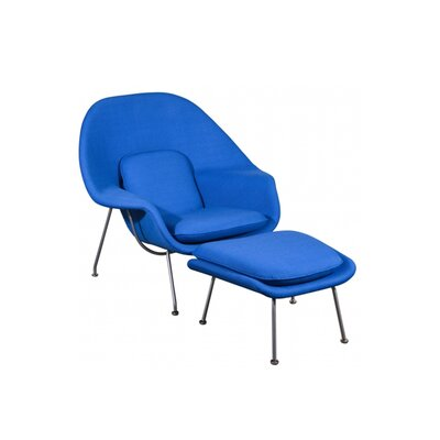 Kirsch Lounge Chair Upholstery: Blue